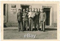 WWII street sign German metal enamel building US Army WW2 officer veteran estate