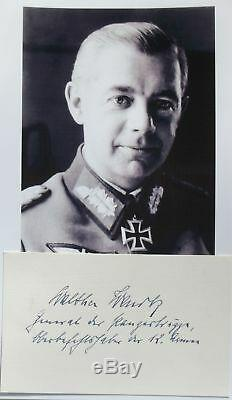 Walter Wenck German General World War II 12th Army Commander Autograph''Rare'