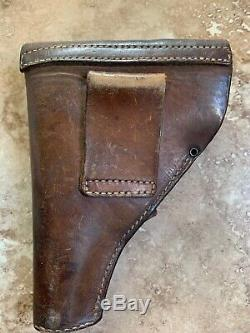 Ww2 German Army French Unique Model 17 Kriegsmodell Pistol Gun Leather Holster