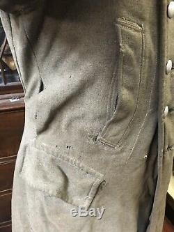 Ww2 German Coat Jacket Overcaot Original Wwii Heer Army Field Repairs Tunic
