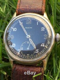 Ww2 German DH Zenith Watch Military Wehrmacht Dienstuhr wk2 Heer Army
