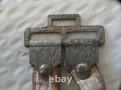 Ww2 German Deluxe Army Dagger Hangers. Drgm Marked/stamped