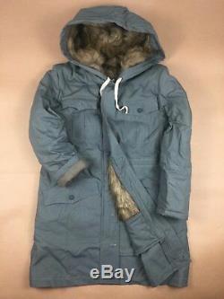 Ww2 German Elite Army Mouse Grey Fur-lined Winter Parka Coat Size L