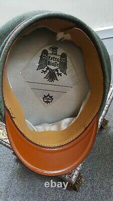 Ww2 German Panzer officer cap moth damaged