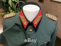 Ww2 German Uniform Army General Major Named Identified