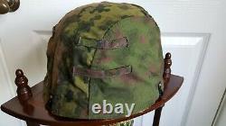 Ww2 German original camouflaged helmet cover