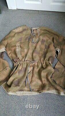 Ww2 German original tan and water camouflaged smock