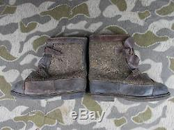 Ww2 Vtg German Wehrmacht Army Soldiers Winter Jack Boots Named
