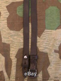 Ww2 Wwii German Leather Strap Sling Original Wehrmacht Military Field Army Rare