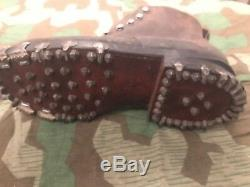 Ww2 Wwii German Wehrmacht Type Swiss Made Army Mountain Boots 1956 Marked Rare