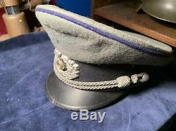 Ww2 german army Visor Hat Rare Piping