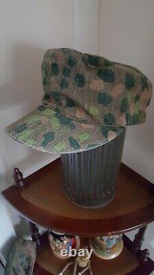 Ww2 german cap camouflaged m44 patern field cap in good condition