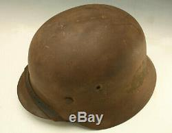 Wwii M35 German Helmet Army Sand Camo Untouched And Rare Wermacht Helmet D Day