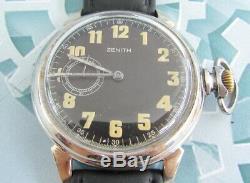 ZENITH 1930 1940 Years WWII Vintage Swiss for German Army Military Wristwatch