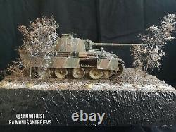 1/35 Ww2 Diorama. Char Panther. Armée Allemande. Pro Construit Et Peint