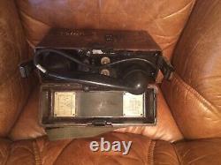 1940 Rare Ww2 Armée Allemande Militaire Cran Sur Le Terrain Téléphone Radio Modèle Cas Bakelite