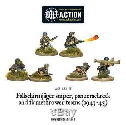 28mm Warlord Allemand Fallschirmjäger Starter Armée Bnib, La Seconde Guerre Mondiale Bolt Action