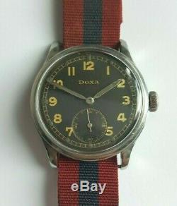 40s Seconde Guerre Mondiale Doxa Armée Allemande Délivré Sous-deuxième Montre 34mm Diamètre Militaire