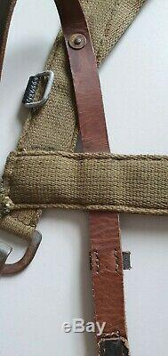 A-frame Avec Cuir Sangles Ww2 Armée Allemande D'origine