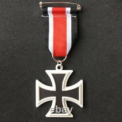 Allemand Iron Cross 1939 Medal Ribbon Militaire Ww2 2ème Classe Repro Armée Badge