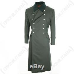 Allemand M36 Officiers Gabardine Greatcoat Ww2 Repro Long Grande Trench Armée