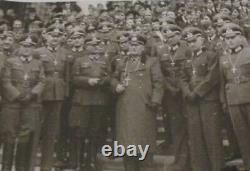 Antique 1940 Officier De Guerre Militaire Allemand Crucifix Wwii Armée Pectoral Croix Relique