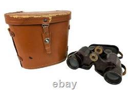 Antique Wwii Armée Allemande Dienstglas 6x30 Cnx Emil Busch Bakelite Binoculars Case