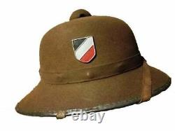 Armée Allemande D'élite De La Seconde Guerre Mondiale Casque Tropical Pith Afrika Corps 1942 L@@k
