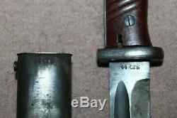 Armée Allemande D'origine Ww2 K98 Baïonnette Withmatching Fourreau, 44 Crs