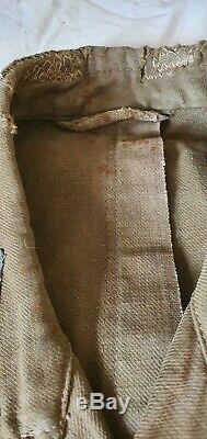 Armée Allemande Dak Tropical Tunique Afrika Korps -ww2 Pow Uniforme D'origine