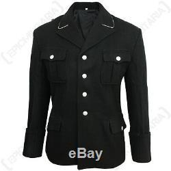 Armée Allemande Elite Officiers Noirs M32 Tunique Ww2 Laine Repro Uniforme Qualité Nouveau