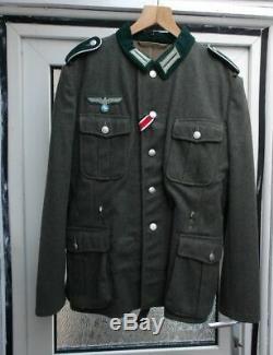 Armée Allemande M36 Terrain Ww2 Gris Uniforme Repro Wehrmacht New Taille 44 Inch Chest