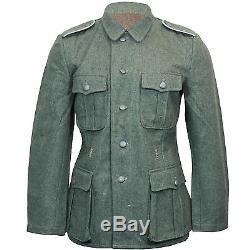 Armée Allemande M40 Terrain Laine Grise Tunique Ww2 Repro Manteau Veste Toutes Les Tailles New