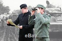 Armée Allemande Panzer Wrap Noir Laine Toutes Les Tailles Ww2 Repro Heer Veste Uniforme