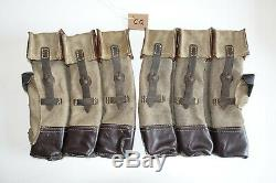 Armée Allemande Seconde Guerre Mondiale Repro Kurtz 8 MM Munitions Pochettes Fonds Âgées Reiforced Inv # Cq