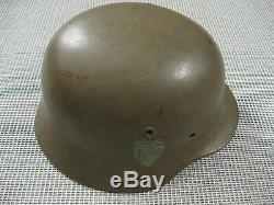 Armée Allemande Wehrmacht Coque Du Casque En Acier Ww2 M1940 Se 64 Exc ++