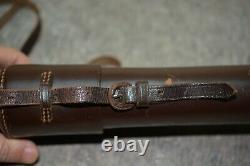 Armée Allemande Wehrmacht Ww2 Wwll Akah Vintage Sniper Scope Leather Case