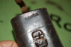 Armée Allemande Wehrmacht Ww2 Wwll Hubertus Vintage Sniper Scope Leather Case