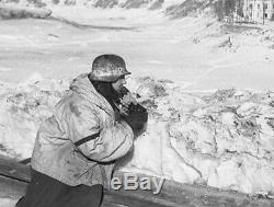 Armée Allemande Ww2 Neige Camo Overwhite Smock Parka Wehrmacht Schneetarnjacke 1941