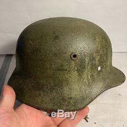 Armée Allemande Ww2 Relic M40 Casque Récupéré En Normandie Camo