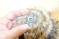 Armée Allemande Ww2 Repro East Front Real Rabbit Fur Ushanka Hat Sz59 7 3/8