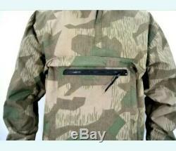 Armée Allemande Ww2 Splinter Camouflage Anorak Doublé Fourrure Showerproof Coupe-vent Smock