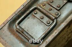 Armée Militaire Allemande Wehrmacht Ww2 Wwii Box Case Container Marqué 1941 Mg 34 42