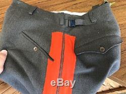 Armée Uniforme Militaire Allemand Ww2 Généraux Culottes Pantalons Équitation Pantalons Taille 31 Taille