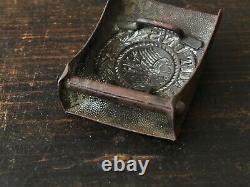 Battl Ww2 Original. Relique Armée Allemande Ceinture Buckle Gott Mit Uns # Weimar # M1921