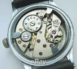 Cal Gala Dh. 2643 Wristwatch Armée Allemande Wehrmacht De La Période Seconde Guerre Mondiale. Militaire