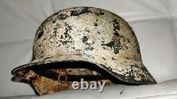Casque Allemand D'origine Restauré M35/64 Hiver Ww2 Wehrmacht