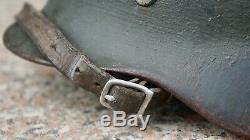 Casque Allemand D'origine Untouched Alun M35 De Overpaint Doublure Armée Ww2