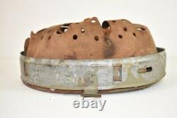 Casque Allemand Original Ww2 Liner Steel/zinc MID War M40 M42 Daté De 1942 64/57