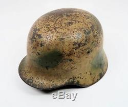 Casque De Combat Camouflage Allemand Wehrmacht Heer De La Seconde Guerre Mondiale Soldat De L'armée Italienne